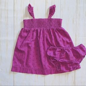 Baby Benetton Purple smocked sleeveless dress 12mo